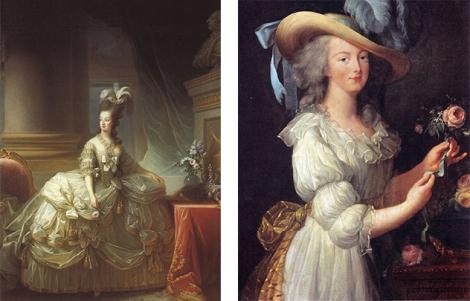 Portraits von Louise Élisabeth Vigée Le Brun (1778 & 1783, Public Domain)