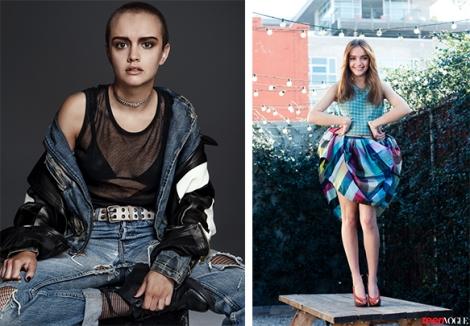 Photos: Chris Colls via Interview Magazine / Jessica Haye & Clarke Hsiao via Teen Vogue